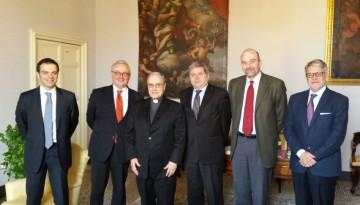 da sinistra Capecchi, Cantini, Mogavero, Marziano, Rigillo, Tumbiolo