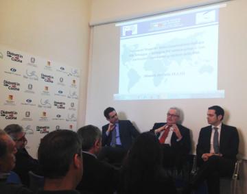 da sinistra Scuderi, Cantini, Capecchi durante il workshop