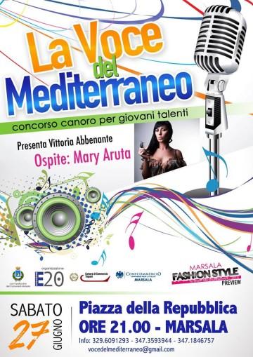 La voce del Mediterraneo 2015 la locandina