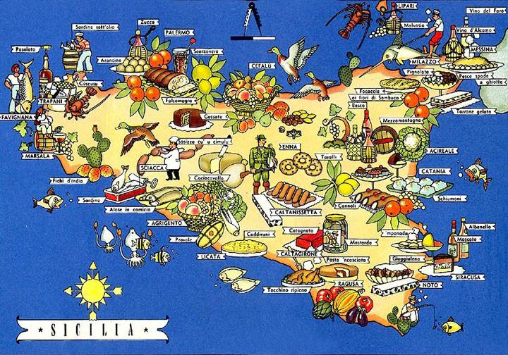 SICILIA - ENOGASTRONOMIA-mappa