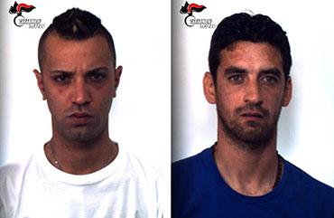 Domenico-Mauro, Ignazio-Costantino-arresto-carabinieri-locogrande-trapani