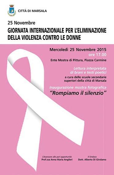 25 Novembre-Marsala-rompiamo il silenzio