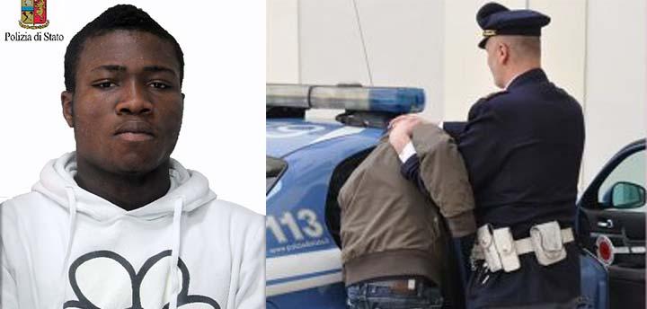 arrestato dopo una serie di atti di violenza immigrato nigeriano