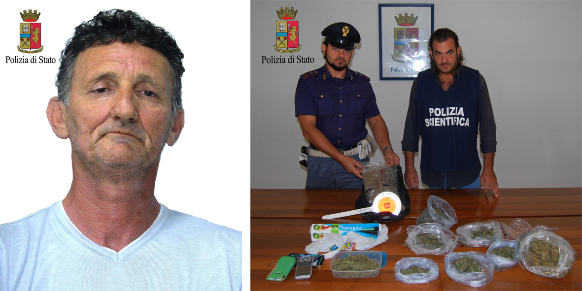 arresto-polizia-marsala-dantoni-salvatore-sequestro-marijuana