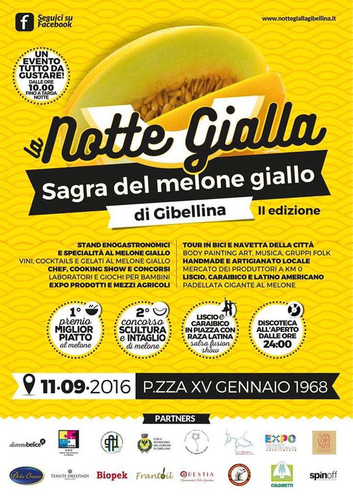 notte gialla sagra melone giallo gibellina 2016 locandina