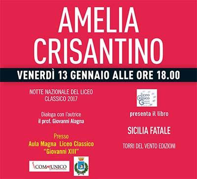 """Il Classico di Marsala presenta la """"Sicilia Fatale"""" di Amelia Crisantino"""