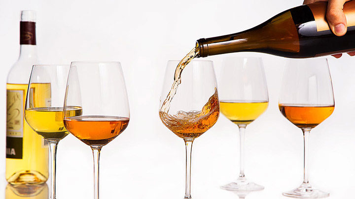 how to clear orange wine