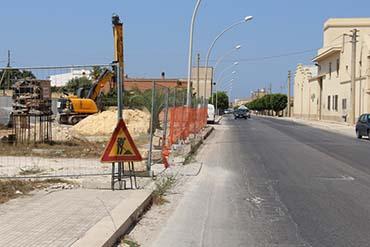 Marsala: iniziati i lavori di consolidamento di via Salemi
