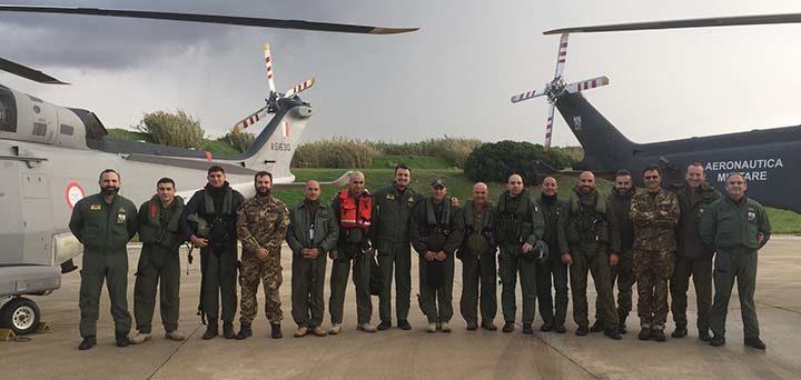 Addestramento congiunto tra l'82° Centro C.S.A.R. e le Forze Armate Maltesi