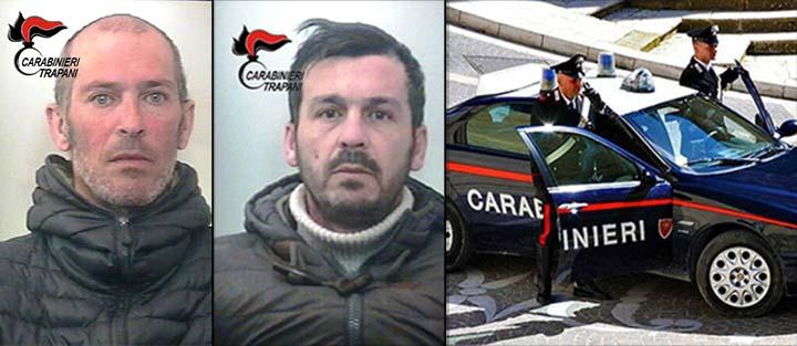 Marsala: carabiniere libero dal servizio sventa un furto e arresta due marsalesi