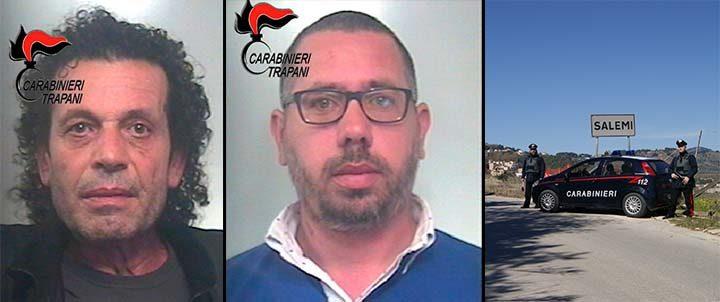 Due persone arrestate e due giovani denunciati a Salemi