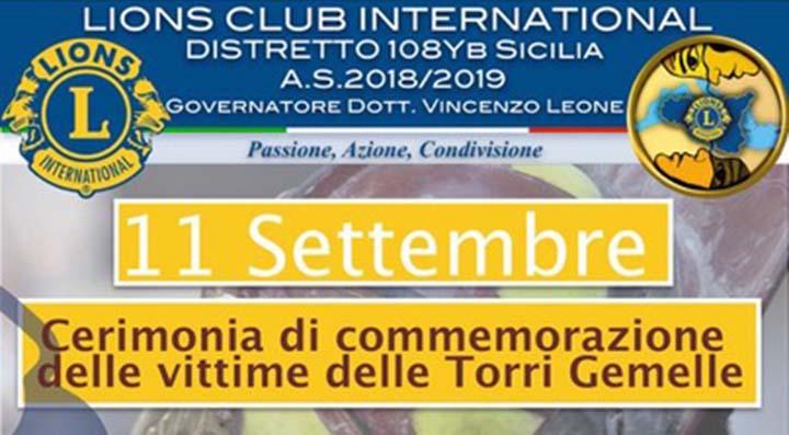 Marsala e Lions Club commemorano le vittime dell'11 settembre 2001