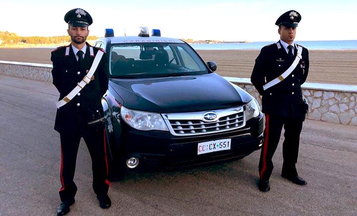 carabinieri san vito lo capo spiaggia