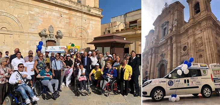 Marsala: consegnato un mezzo per disabili all'Anffas