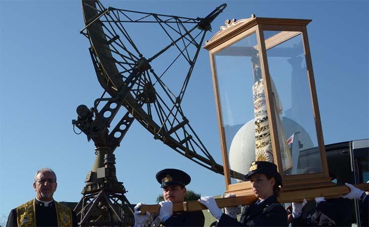 Continua il pellegrinaggio della Madonna di Loreto, accolta alla Squadriglia Radar Remota di Marsala