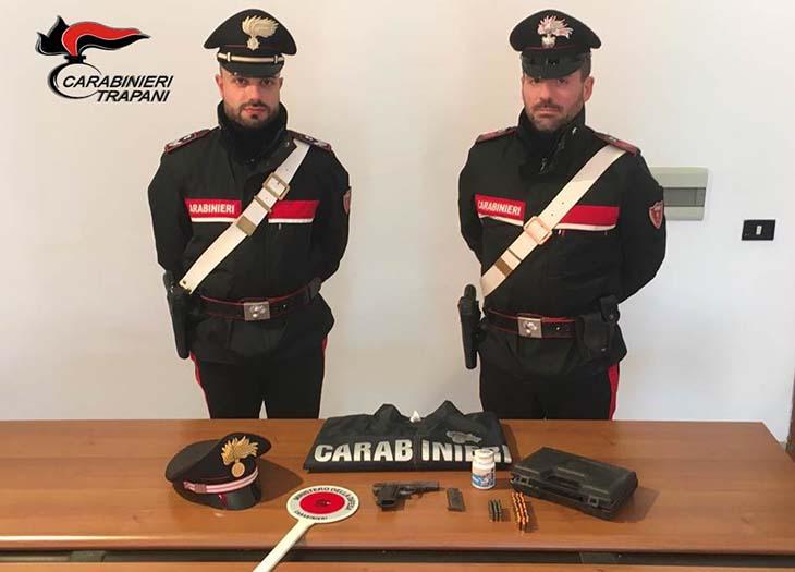 Arrestato marsalese in possesso di un'arma con matricola abrasa