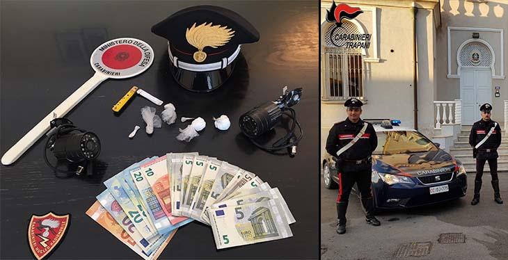 Marsala: deteneva crack e cocaina, arrestato per spaccio