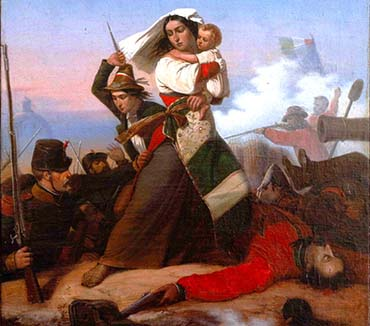 Un dipinto del Centro Studi Garibaldino per la copertina di una pubblicazione olandese